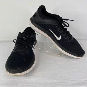 Nike Flex 2016 Run Black Running Shoes, size 10